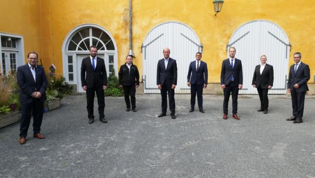 Der neue Aufsichtsrat der Bauvista (v. l.): Germar Baumgärtel, Marcus Dörndorfer, Stefan Eichhorn, Erk-Peter Radbruch, Rüdiger Baehr, Jan-Mark Weitz, Michael Stockmanns und Georg Vos.