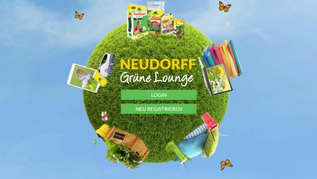 Die  grüne Lounge von Neudorff steht exklusiv Fachverkäufern der grünen Branche zur Verfügung.