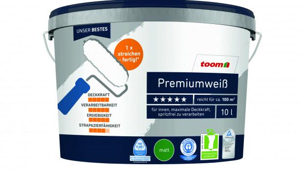 Die 2011 eingerführten Eimer aus Kunststoff-Rezyklat sparen nach Angaben von Toom gegenüber herkömmlichen Verpackungen rund 30 Prozent an CO2-Emissionen.