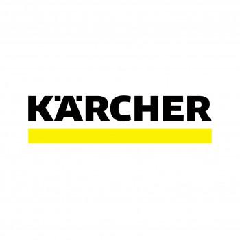 Das weiterentwickelte Kärcher-Logo verwendet eine andere Schrift als bisher.