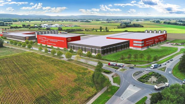 So wird der neue Standort von Graf in Neuried aussehen. In zwei Bauabschnitten entstehen Gebäude mit einer Grundfläche von rund 26.000 m².