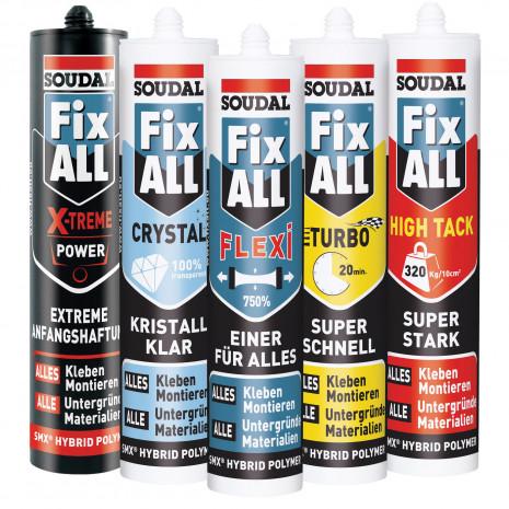 Die MS-Polymere der Fix All-Produktreihe
