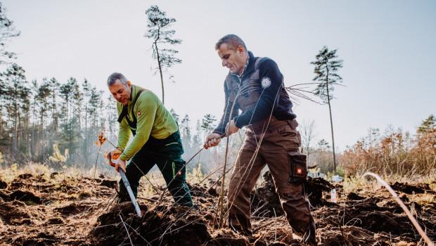 Beispielhafte Baumpflanzaktion des Unternehmens Plant-My-Tree, das nun für die NBB-Gruppe im schleswig-holsteinischen Hohenaspe aktiv wird.