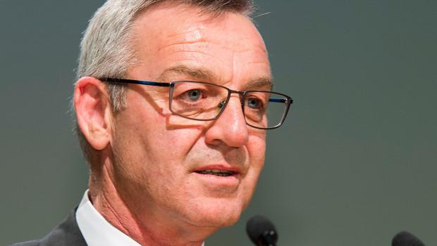 ZVG-Präsident Jürgen Mertz, hier bei der Eröffnung der IPM 2015, wird den Eröffnungsvortrag auf dem 50. Torf- und Humustag halten.