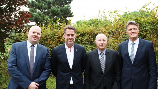 Der IVG-Vorstand (v. l.): Christoph Büscher, Michael Reuter, Dr. Hans-Ulrich Born und Bernard Hubbermann.
