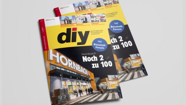 Hornbach ist Titelgeschichte des Januar-Hefts von diy. Die aktuelle Ausgabe ist jetzt erschienen.