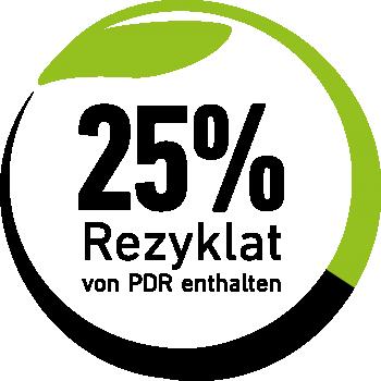 Das Logo dokumentiert den Einsatz von Rezyklat in PU-Schäumen oder Klebern.