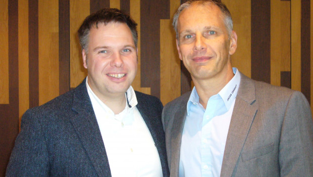 Christoph Dieker und Sven Neumann., die neuen Sprecher der Fachgruppe Fliesen/Naturstein der Eurobaustoff (v. l.).