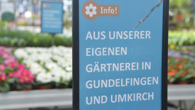 Das VDG-Mitglied Sauter vermarktet Zierpflanzen aus seiner Produktion in seinen Gartencentern wie hier in Lahr.