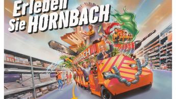 Per Bimmelbahn durch den Hornbach-Baumarkt