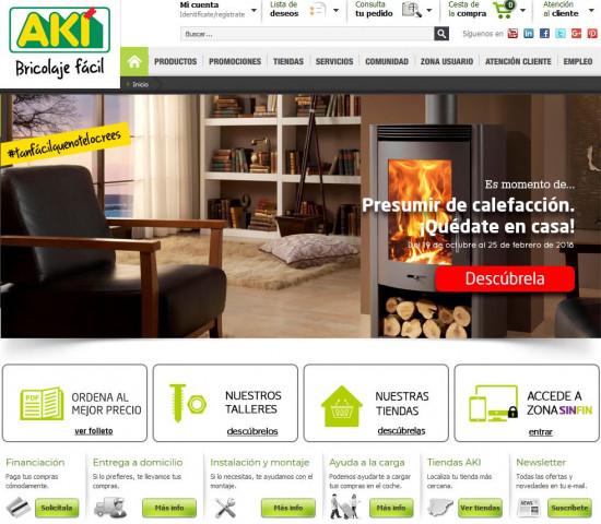 Der Web-Auftritt von Akí.
