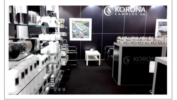 Korona - hier ein Bild vom Messeauftritt auf der Christmasworld - gilt auf dem weltweiten Kerzenmarkt als führende Anbieter von Private-Label-Produkten.