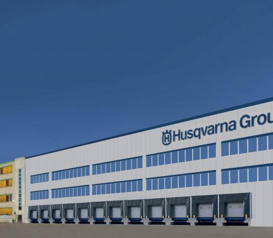 ... zur neuen Versandhalle der Husqvarna-Gruppe in Ulm.