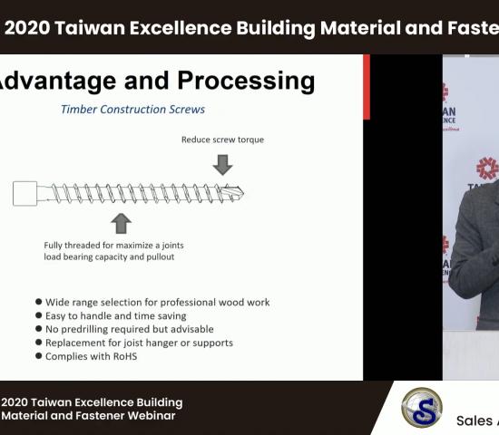 Beim Vortrag von Frank Lee (Sheh Fung) stand eine Holzkonstruktionsschraube im Mittelpunkt, die sich einfach installieren lässt und somit Zeit spart.