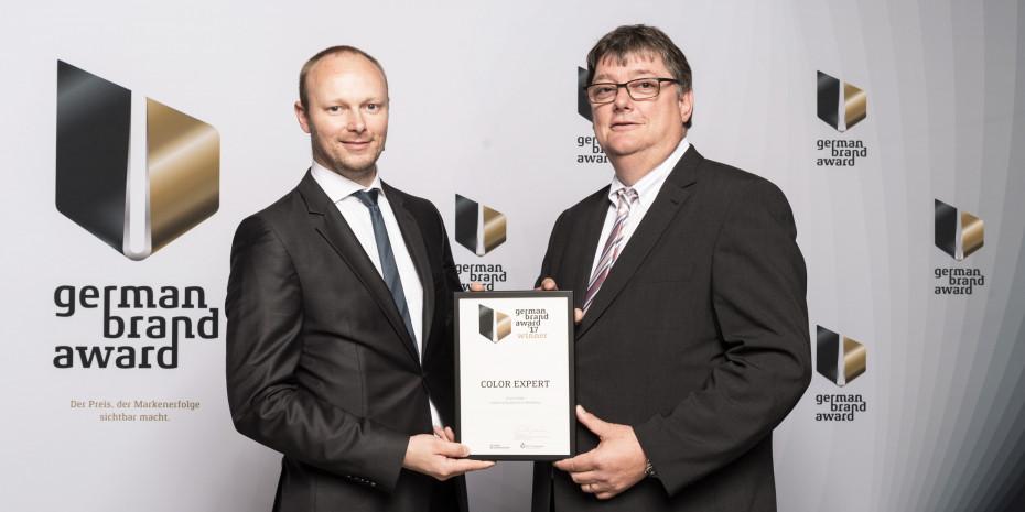 German Brand Award 2017, P. Escher (l.), M. Oppermann