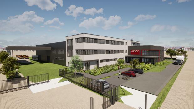 Bis Ende 2022 will Köbig am Standort Koblenz diesen Neubau in unmittelbarer Nachbarschaft des bisherigen Gebäudes fertigstellen.