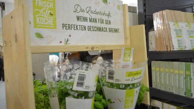 Auf der Garten- und Zooevent hat die Sagaflor das Kräuter-Sortiment für die Eigenmarke Frischluftküche bereits vorgestellt.