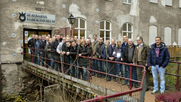 Die EDE-Motoristen besuchten auf ihrer Schweden-Reise u. a. auch Husqvarna.