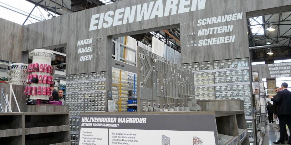 Das neue Modul erinnert an traditionelle Eisenwarenhandlungen.