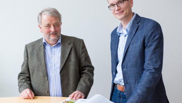 Albert Brink-Abeler (l.) übergibt die Geschäftsführung von Dataverde zum Jahresende an Sören Losch.