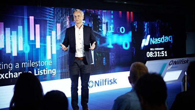 """Hans Henrik Lund, CEO von Nilfisk: """"Die solide Dynamik des Jahres 2017 setzt sich fort."""""""