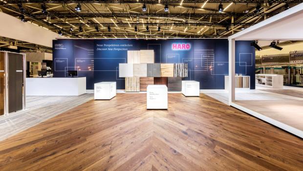 Haro, Messestand, Foto: Bernadette Grimmenstein/ HARO Hamberger Flooring GmbH & Co. KG.