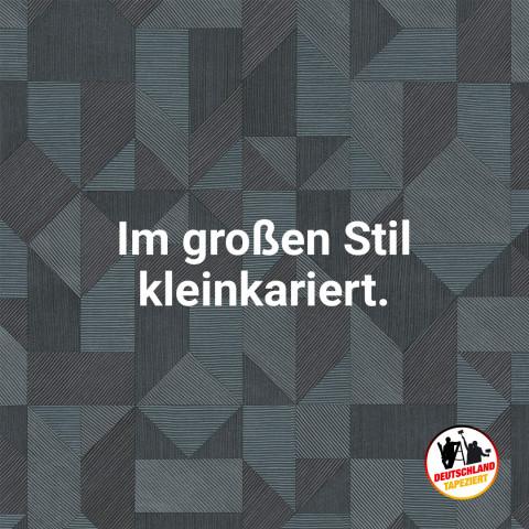 """Die Kampagne """"Deutschland tapeziert"""" tritt mit einem eigenen Logo und verschiedenen Kampagnenmotiven auf."""