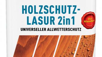 Holzschutz-Lasur 2in1 in Trendfarbe Grau