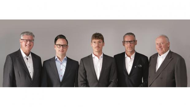 Von links: Karlheinz Wirth, Stefan Gorczynski, Benedikt Merz, Carsten Bollert und Klaus Meffert. [Bild: Meffert AG]