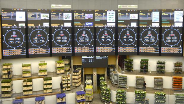 Die neue Uhrenfront der Veiling Rhein-Maas ist in Betrieb.