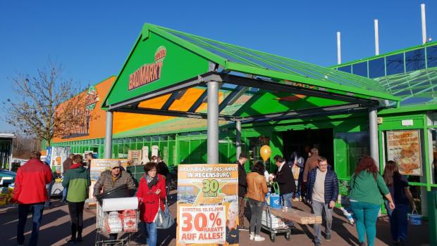 Der Jubiläumsmarkt von Globus in Regensburg beging seinen 30. Geburtstag unter anderem mit einer Rabattaktion.
