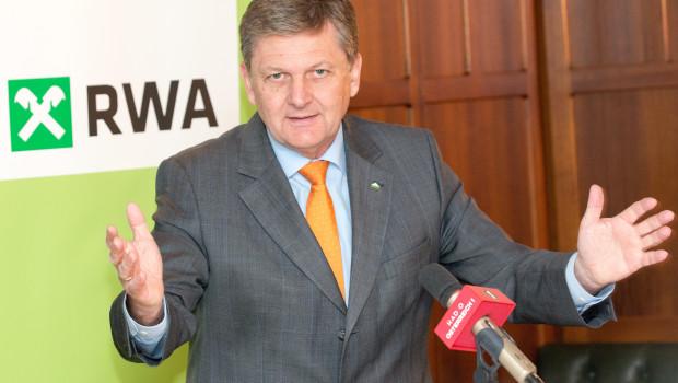 Generaldirektor Reinhard Wolf berichtet auf dem Jahrespressegespräch über den Geschäftsverlauf der RWA im vergangenen Jahr.