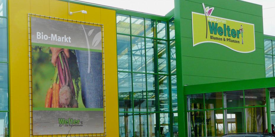 Der Auftritt kombiniert das typische Welter-Gelb mit dem neuen Logo der Vertriebslinie Egesa Garten.