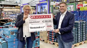 Bauhaus spendet 100.000 Euro an Verein Herzenssache
