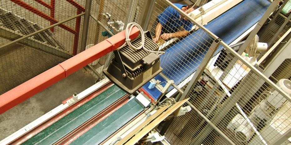 Produktion des Parkett-Werkes