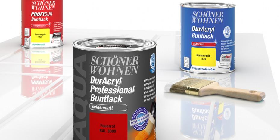 Das neue Sortiment: Drei professionelle Lackqualitäten für den DIY-Bereich