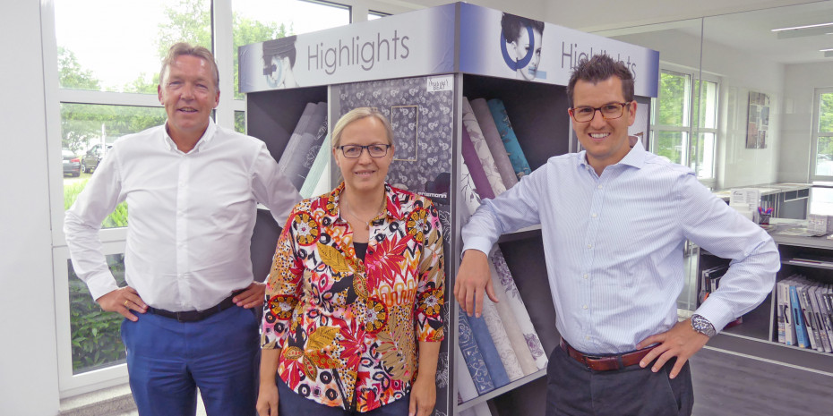 Erismann, v.l. Dietmar Everding (Geschäftsführer), Silvia Reddmann (Leiterin Marketing/Kommunikation), Maximilian Bercher (Geschäftsführer)
