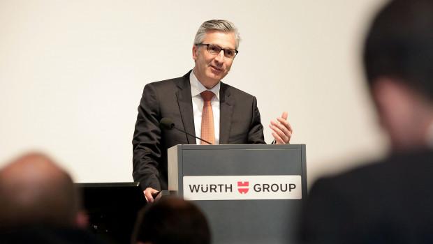 Robert Friedmann, Sprecher der Würth-Konzernführung, stellt die Unternehmenszahlen vor.