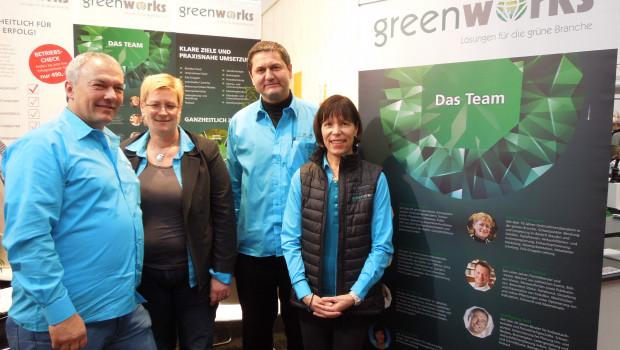 Greenworks-Geschäftsführerin Margit Gössmann, Horst Gössmann, Marion Illemann und Wolfgang Sell