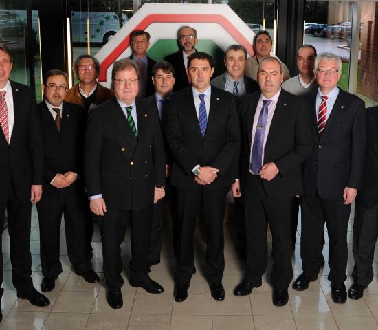 Aufsichtsräte und Geschäftsführung der Hagebau, Coarco und Coferdroza zu Besuch in der Hagebau-Zentrale.