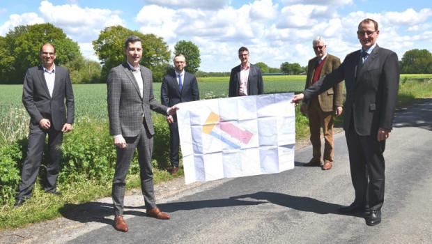 Die Pläne für das neue Logistikzentrum wurden kürzlich in Nottuln vorgestellt.