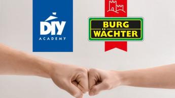 Burg-Wächter ist neuer Partner der DIY Academy