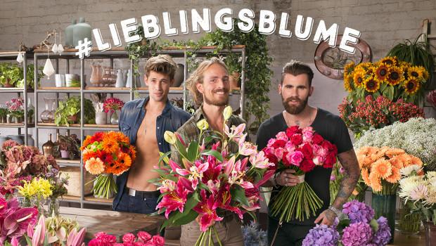 Mit Waschbrettbauch und Hipsterbart wirbt das Blumenbüro für Initiative #Lieblingsblume.
