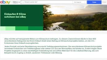 Ebay startet Initiative zum Ausgleich von Treibhausgasemissionen