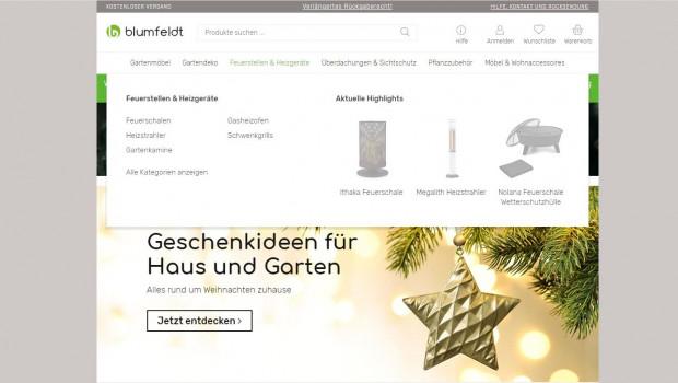Im Blumfeldt-Webshop werden Produkte rund um den Garten angeboten.