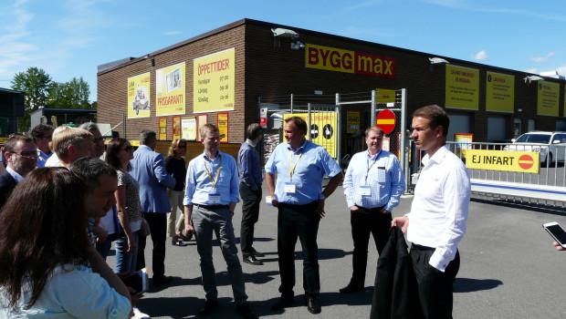 Der CEO von Byggmax, Magnus Agervald, führte die Besuchergruppen persönlich durch einen Markt im Großraum Stockholm.