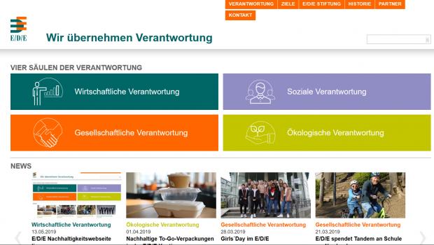 Die neue Nachhaltigkeitswebsite der EDE-Gruppe.