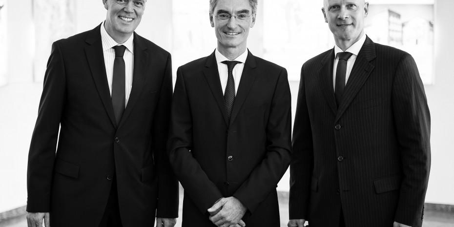 Andreas Müller, Michael Wiessner und Christopher Brennecke (v. l.) stellen die neue Gebietsstruktur vor.