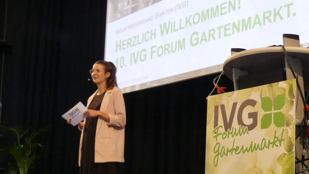 Vor einem Jahr begrüßte IVG-Geschäftsführerin Anna Hackstein 280 Teilnehmer zum IVG-Forum Gartenmarkt, der zehnten Ausgabe des Kongresses. In der physischen Version wird das dieses Jahr nicht möglich sein: Die Veranstaltung wird 2020 rein digital abgehalten.