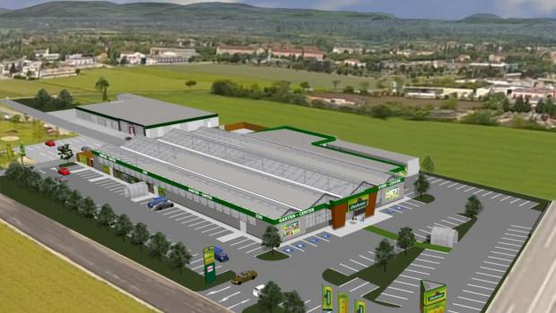 So soll das neue Dehner-Gartencenter in Neunkirchen einmal aussehen. Mit den Bauarbeiten wurde bereits begonnen.